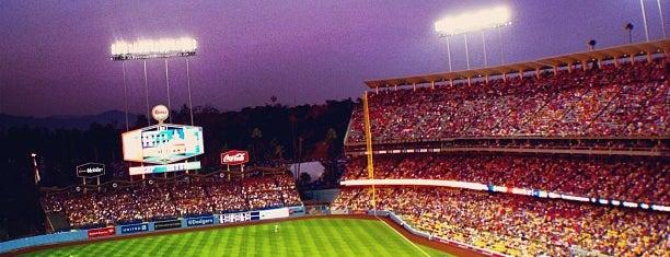 Dodger Stadium is one of sports arenas and stadiums.