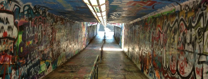NC State Free Expression Tunnel is one of Explore NCSU.