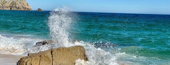 Porthcurno Beach is one of Tempat yang Disimpan Sevgi.