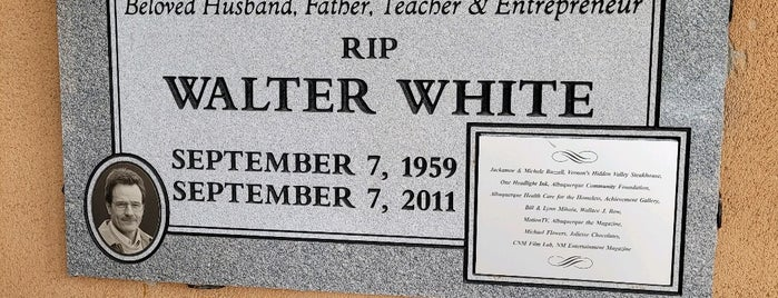 Walter White's Grave is one of Aq.
