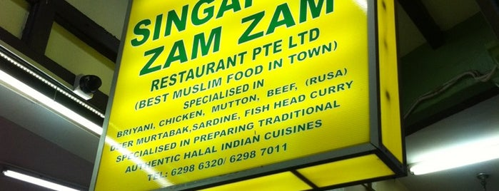 Singapore Zam Zam Restaurant is one of Singapur.