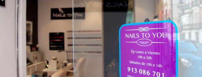 Nails to you is one of MADRID Manicura.