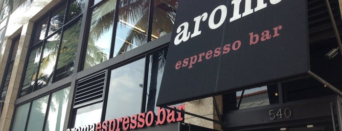 Aroma Espresso Bar is one of Lugares favoritos de Marcos.