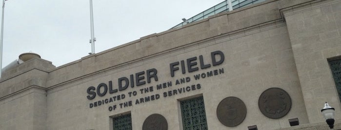 Soldier Field is one of Traveling Chicago.