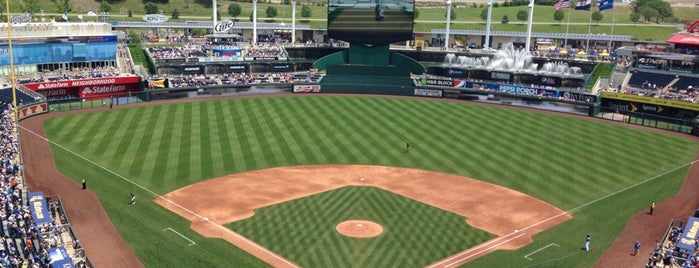 Kauffman Stadium is one of sports arenas and stadiums.