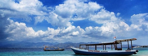 Gili Trawangan Harbour is one of Tour to Gili Trawangan, Meno dan Air.