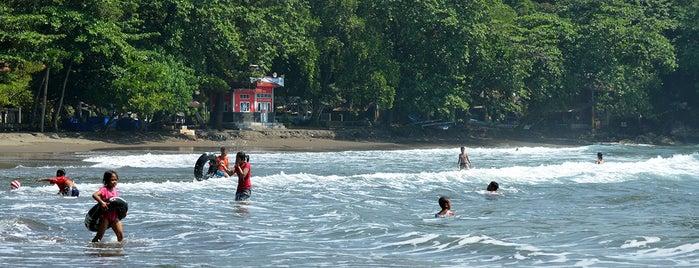 Pantai Batu Karas is one of Wisata Green Canyon Pangandaran.
