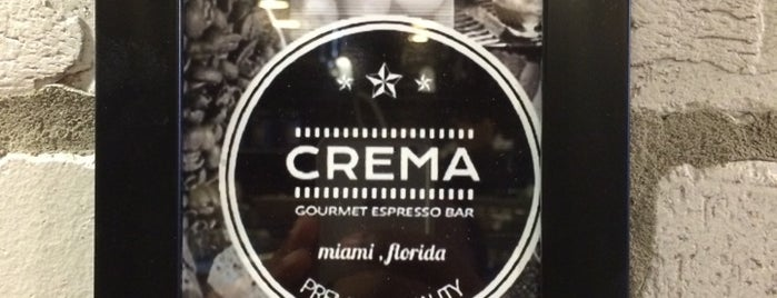 Crema Gourmet Espresso Bar is one of Miami.