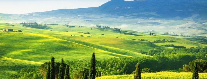 Val d'Orcia is one of Tuscany.