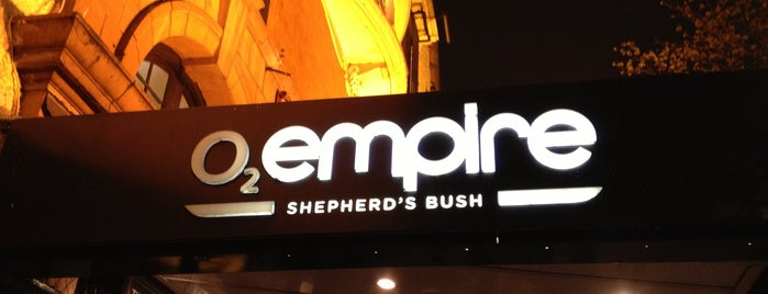 O2 Shepherd's Bush Empire is one of UK to-do list.