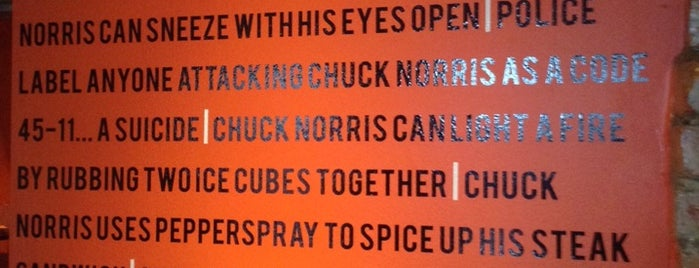 Chuck Norris Grill is one of N. 님이 저장한 장소.