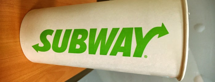 Subway is one of Calorie counting spots.