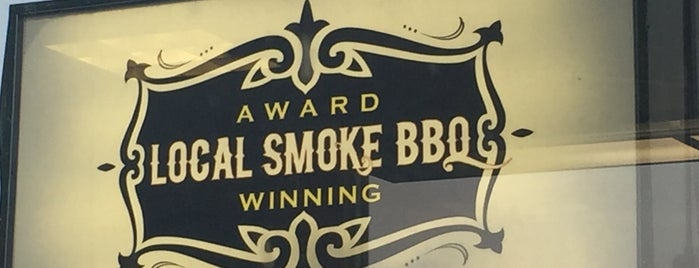 Local Smoke BBQ is one of Tempat yang Disimpan Lizzie.