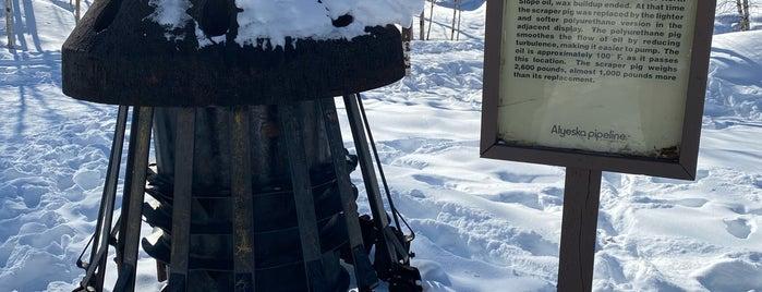 Alyeska Pipeline Viewpoint is one of Fairbanks.