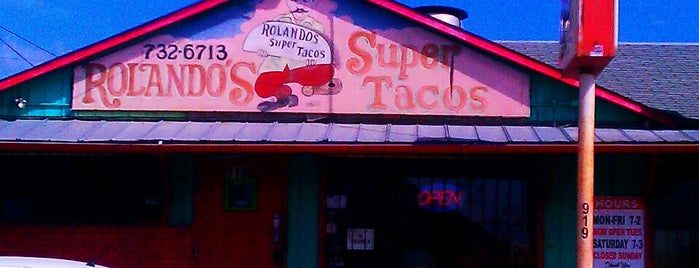 Rolando's Super Taco is one of San Antonio.
