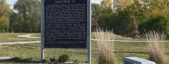 Malcolm X  Birthsite is one of Arthur's Main list of things to do..