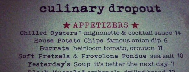 Culinary Dropout is one of Foodie Hot Spots.