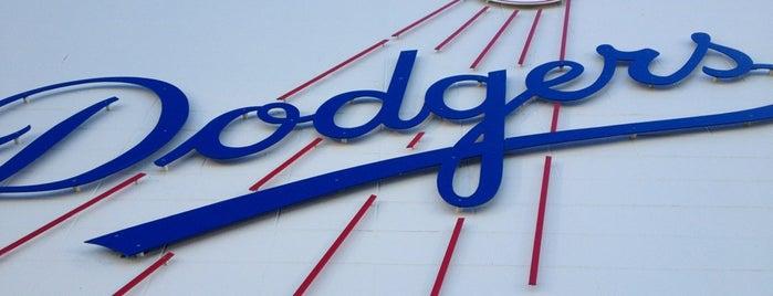 Dodger Stadium is one of MLB Ballparks.