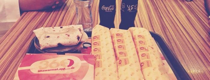 Shawarma 360 is one of Locais curtidos por Arwa.