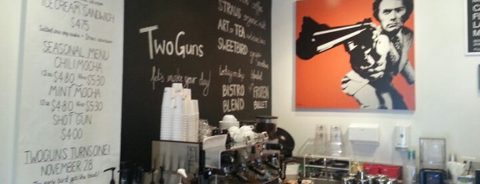 Two Guns Espresso is one of Tempat yang Disukai Aaron.