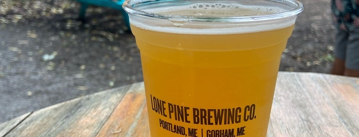 Lone Pine Brewing is one of Portland ME.