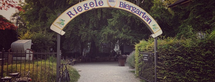 Riegele Biergarten is one of Augsburg.