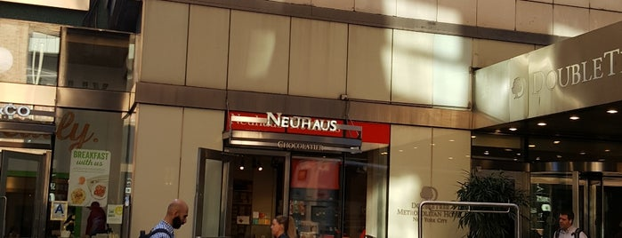 Neuhaus Chocolatier is one of USA NYC Cafes.