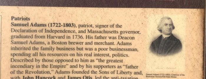 Grave of Samuel Adams is one of Boston, MA.