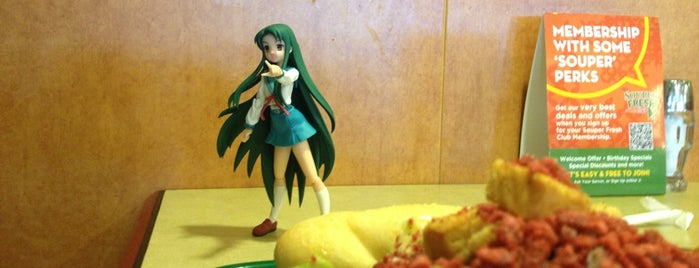 Souper Salad is one of The Travelogue of Haruhi Suzumiya 涼宮ハルヒの旅日記.