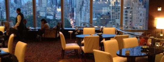 The Lobby Lounge at Mandarin Oriental, New York is one of Restaurants with a view.