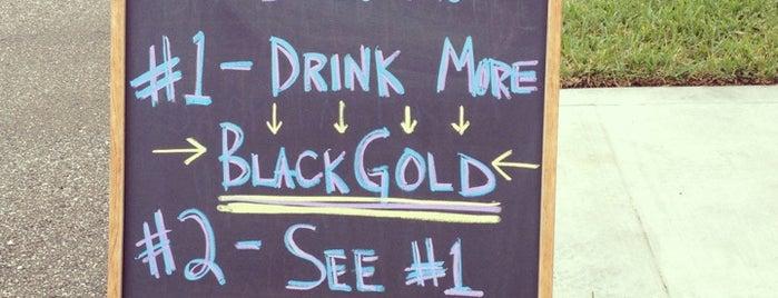 Black Gold Coffee Roasters is one of Lieux qui ont plu à J..