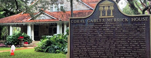 Coral Gables Merrick House is one of Miami Exploration!.