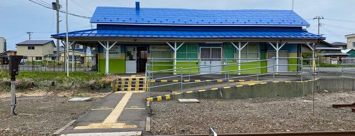 Mutsu-Yokohama Station is one of JR 키타토호쿠지방역 (JR 北東北地方の駅).