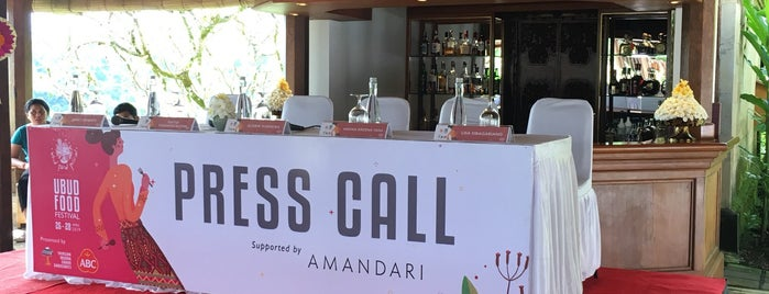 Amandari Resort Bali is one of Lieux qui ont plu à Marcia.