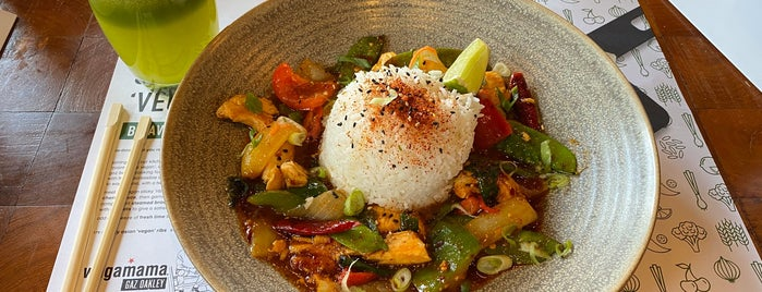 wagamama is one of Places to try someday.