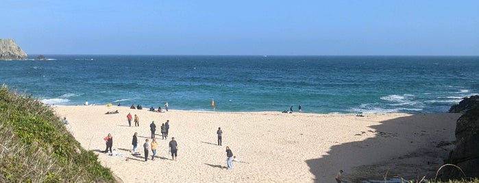 Porthcurno Beach is one of London saved places.