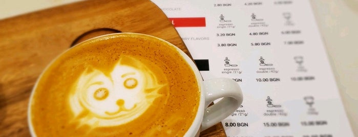 Dabov specialty coffee is one of Sofia, Bulgaria.