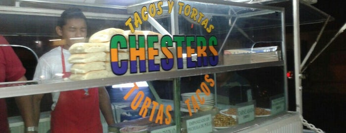 Tacos y Tortas CHESTERS is one of Tempat yang Disimpan Gabriel.