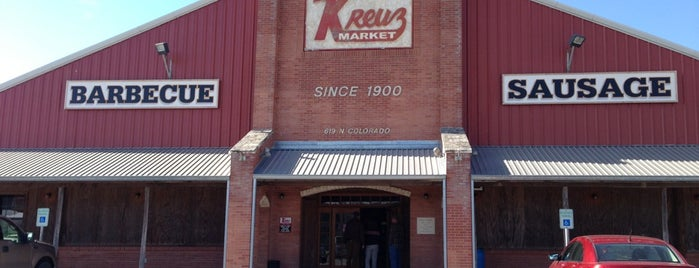 Kreuz Market is one of TM Top 50 BBQ Joints in TX 2017.