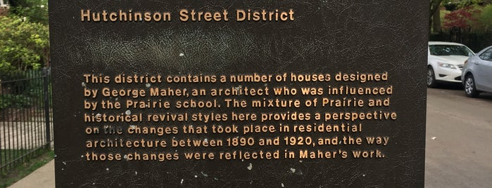Historic Hutchinson Street District is one of Illinois's Greatest Places AIA.