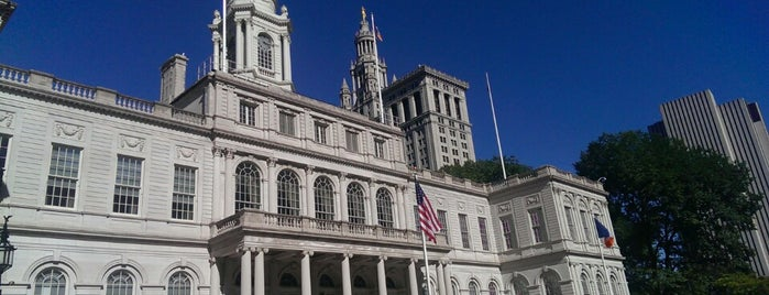 New York City Hall is one of Rallies to Save Queens Librarym (Spring 2012).