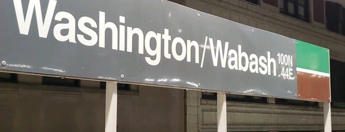 CTA - Washington/Wabash is one of Illinois's Greatest Places AIA.