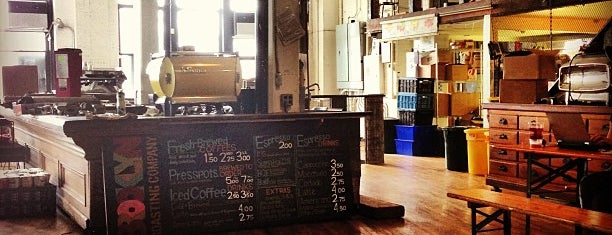 Brooklyn Roasting Company is one of Tempat yang Disukai Jessica.