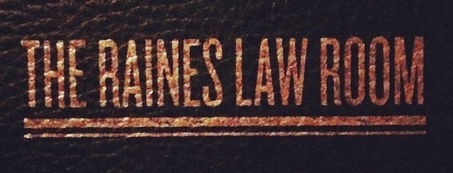 The Raines Law Room is one of NYC.
