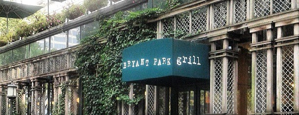 Bryant Park Grill is one of NY.