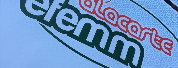 Efemm Döner Pide Lahmacun is one of สถานที่ที่บันทึกไว้ของ Emre.