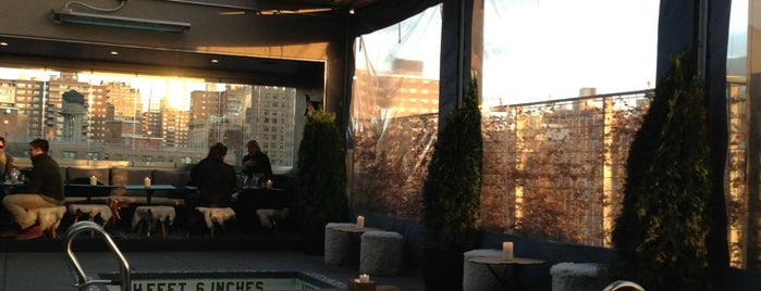 La Piscine at Hôtel Americano is one of Rooftop Bars with Drinks to get Drunk in NYC.