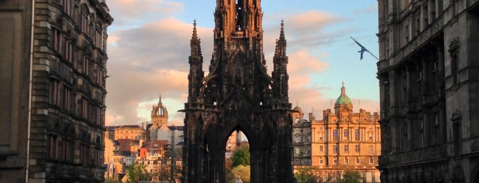 The Scott Monument is one of Edinburgh.