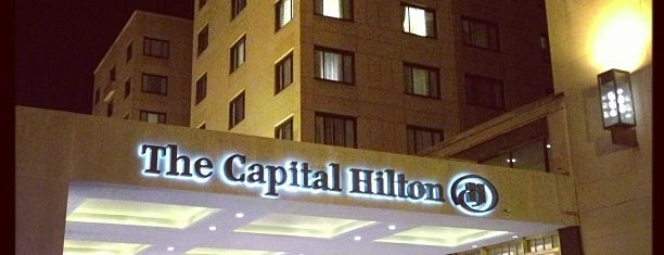 The Capital Hilton is one of Lieux qui ont plu à John.