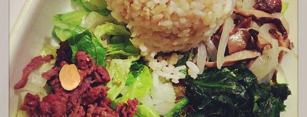 Bibigo Hot Stone is one of Veggie choices in Non-Vegetarian Restaurants.